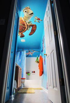nemo bathroom set. Duuuude  this bathroom so totally rocks Bring the world of Finding Nemo right to 5 Bathroom Designs kids Dreams nemo