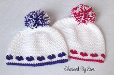 Charmed By Ewe Free Heart Hat Pattern-multiple sizes incl preemie