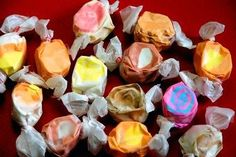 When you learn how to make taffy and you make my delicious salt water taffy recipes, you will never purchase taffy again. Homemade Taffy, Homemade Candies, Candy Recipes, Sweets Recipes, Holiday Recipes, Coraline, How To Make Taffy, Taffy Recipe, Salt Water Taffy