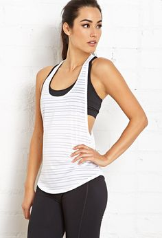 Striped Workout Tank | FOREVER21 #F21Active #Workout