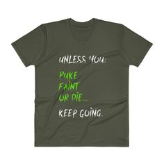 Men's V-Neck T-Shirt - Puke-Faint-Die - Whiteout