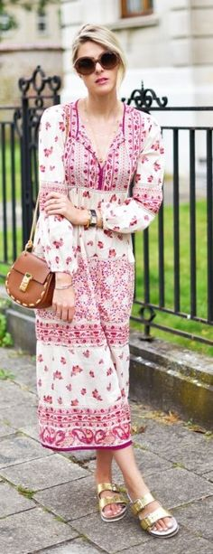 Embroidered Weekend Dress by Fashionata