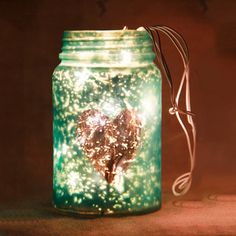 Tea Light Holder With Fairy Lights (Turquoise Blue) Fairy Lights, Tea Lights, Diwali Gifts, Light Turquoise, Beautiful One, Tea Light Holder, Mason Jars, Glow, Candles