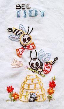 """"""" Bee Tidy""""  Tea Towel"""