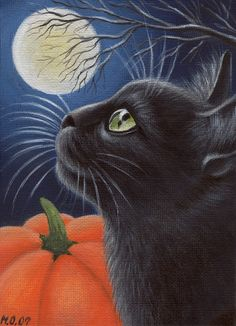 #Samhain Cat  Animal Art multicityworldtravel.com We cover the world over Hotel and Flight Deals.We guarantee the best price