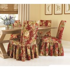 Waverly By Sure Fit Ballad Bouquet Wing Chair T Cushion
