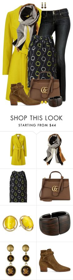 """""""Circle Pattern"""" by tinayar on Polyvore featuring Windsmoor, Paige Denim, Etro, Gucci, Kate Spade, Kenneth Jay Lane, Genevive by CZC and Yves Saint Laurent"""