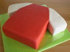 www.nl/… www. Football Birthday Cake, Football Cakes, Birthday Cakes, Soccer Cake, Shirt Cake, Pastel, Cake Tutorial, Football Shirts, Cake Decorating