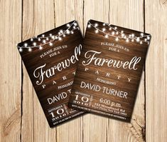 Farewell Party Invitation Farewell Invitation Rustic by mymyparty