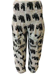 Trend Sommer 2016 Damen Oriental Harem-Hose 100% Baumwolle in 10 Farben | eBay
