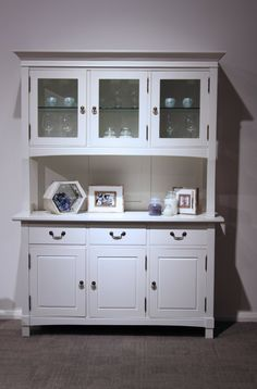 White Buffet Cabinet U0026 Hutch My Home Pinterest Cabinets
