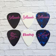 Custom guitar picks we did for BELLWOODS Live It Up! www.egopicks.com