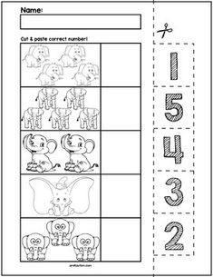 Teach counting skills with lions! Great for teaching counting skills and number recognition for numbers No prep and great for math centers! Number Worksheets Kindergarten, Teaching Numbers, Numbers Preschool, Preschool Learning, Worksheets For Kids, Learning Skills, Free Preschool, Preschool Printables, Preschool Kindergarten