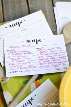 Print your own recipe cards to keep track of your favorites!