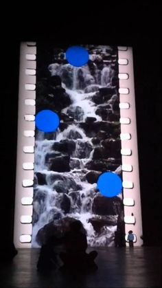 Tate Modern: Tacita Dean Film Film not digital but interesting vertical image down a wall