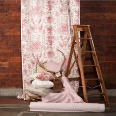 Pink!! What a wonderful colour! Upholster it, cushion it, curtain it - cover your whole house in it! Our favourite is the curtain fabric which is Rockwood Toile Berry! Find it here: http://www.marthas.co.nz/fabric/358