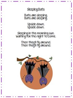 bat song printable