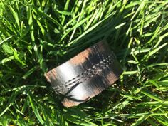 Black Leather Scuffed Cuff by HippieChicHealing on Etsy, $34.00