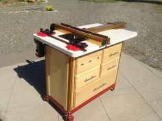 Incra router table cabinet woodworking pinterest router table shop built router table with incra hardware greentooth Choice Image