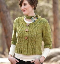 Really is almost a perfect cardi, except for the sleeve length (I'd go just an inch or so longer). Brigid by Courtney Kelley.