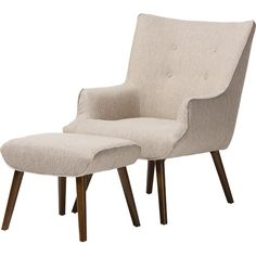 Found it at AllModern - Baxton Studio Elena Wingback Arm Chair and Ottoman