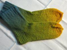 Hand knit wool socks by KnitEssay on Etsy, $12.00