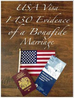 USA i-130 Evidence of a Bonafide Marriage