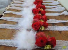 Pulseras florales o corsages rosas rojas Mayula flores
