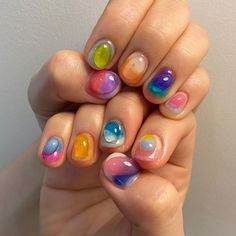 Cute Nails, Pretty Nails, My Nails, Builder Gel Nails, Korean Nails, Kawaii Nails, Gel Nail Colors, Acrylic Gel, Nail Inspo