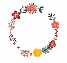Embroidery Art, Hand Embroidery Patterns, Flower Drawing Tutorials, Doodle Frames, Posca Art, Floral Doodle, Wreath Drawing, Collage Background, Quilt Labels
