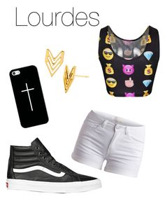 """""""Girls night out"""" by nat-cat-iconic ❤ liked on Polyvore featuring Pieces, Casetify, Gorjana and Vans"""