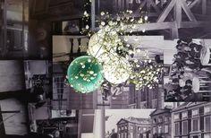 Upcycling en restyling. Tafels bedrukt met archiefbeelden. Wasserman Vinerie Koninklijke Schouwburg Den Haag