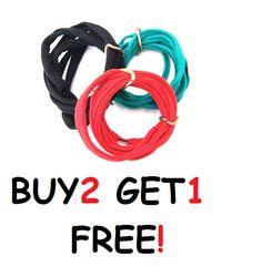 TShirt Bracelet  colored wrap bracelet. Statement by ilkcanArt, $10.00