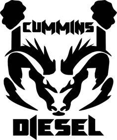 Cummins Diesel Ram Dodge Logo Vinyl Decal Sticker - 8BitThis.com