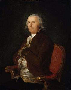 Francisco de Goya - Retrato de un hombre en una capa marrón