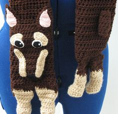 Adult Size Doberman Scarf Crochet Pattern by DonnasCrochetDesigns