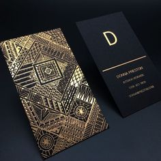 Luxury Gold Foil Black Card Business Card Customized Name Card With Foil Stamping -in Business Cards from Office & School Supplies on