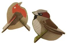 Totem Pop Out Cards, Sparrow & Robin Craft Gift Idea, Paper Origami Gift Cardboard Sculpture, Cardboard Crafts, Diy For Kids, Crafts For Kids, Pop Out Cards, Cardboard Animals, Diy And Crafts, Arts And Crafts, 3d Craft