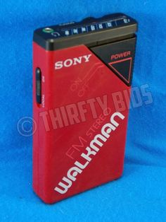Sony SRF-20W FM Stereo Walkman Receiver Portable Handheld Red Tested FreeShip #Sony