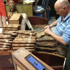 Rolling cigars in Little Havana Visit Florida, Old Florida, State Of Florida, Miami Florida, Bearded Tattooed Men, Bearded Men, Cigar Lounge Man Cave, Tattoo Man, Beard Tattoo