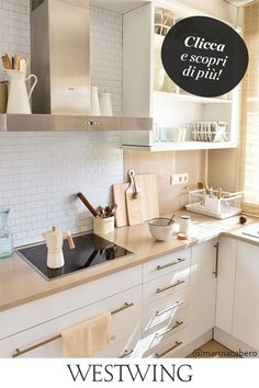 Apartment Kitchen, Home Decor Kitchen, Kitchen Furniture, Kitchen Interior, Scandinavian Kitchen, Small Apartment Decorating, Küchen Design, Home Renovation, Sweet Home