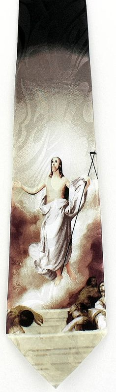 New Jesus Appears To Disciples Mens Necktie Christian Religious Easter Neck Tie #StevenHarris #NeckTie