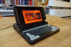 """grid laptop""- the first laptop, designed by Bill Moggridge"