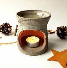 Stoneware, handmade & unique Essential Oil Burner, Essential Oils, Oil Burners, Stoneware, Etsy Seller, Candle Holders, Candles, Ceramics, Unique Jewelry