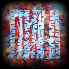Linocut birches #drukpersbrigade