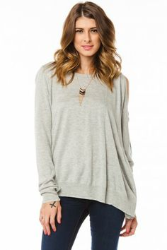 Temper Sweater in Heather Grey