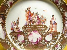 Chinoiserie Meissen plate