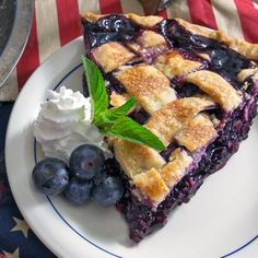 Blueberry Pie. Cook's Illustrated holds the secrets to a perfect blueberry pie filling. Not runny. Not Gummy. Just perfect!