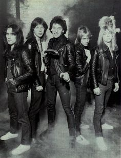Iron Maiden with Paul Di'Anno. Heavy Metal Music, Heavy Metal Bands, Great Bands, Cool Bands, Clive Burr, Iron Maiden Band, 80s Rock Bands, Where Eagles Dare, Gypsy