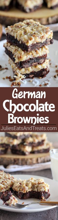 Authentic German Chocolate Brownies Recipe, ,
